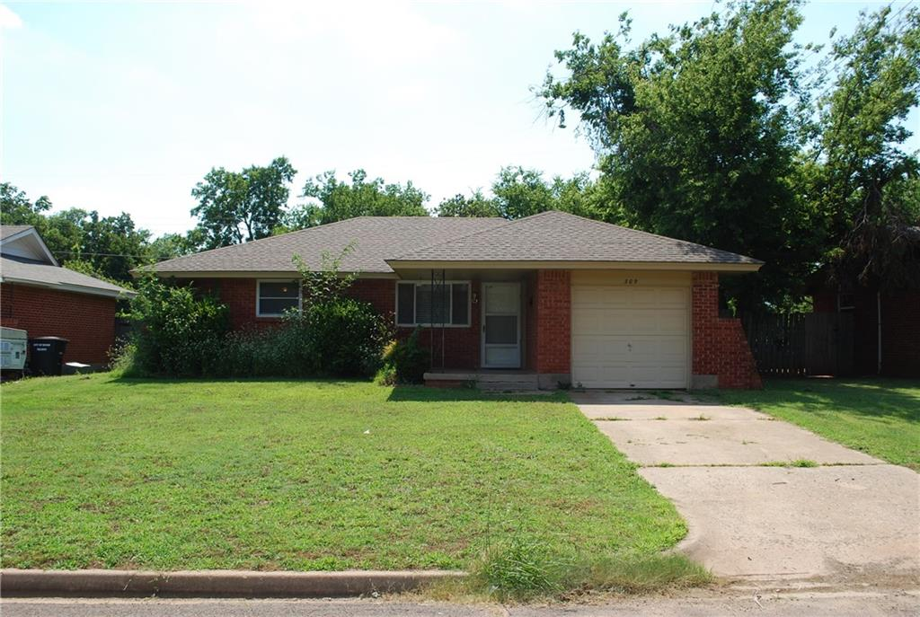 Great starter home or investment opportunity!  This cute home has 3 bedrooms and 1 bath.  There is  separate laundry room leading to the garage.  Come spend your evenings on the covered back patio or pull up a chair and sit by the fire pit!  Electrical panel and HVAC system are less then 2 years old.  Buyer to verify schools.