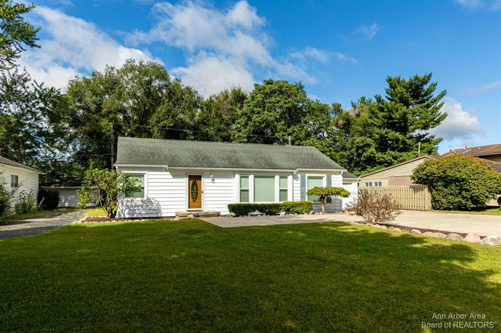 Beautifully remodeled Ranch home in Livonia. This home features a very large lot (one of the largest lots in the community), large outside building,  spacious outdoor patio, and plenty of hardscape to fulfill your needs. Spacious kitchen flows into the dining room. Main floor laundry.