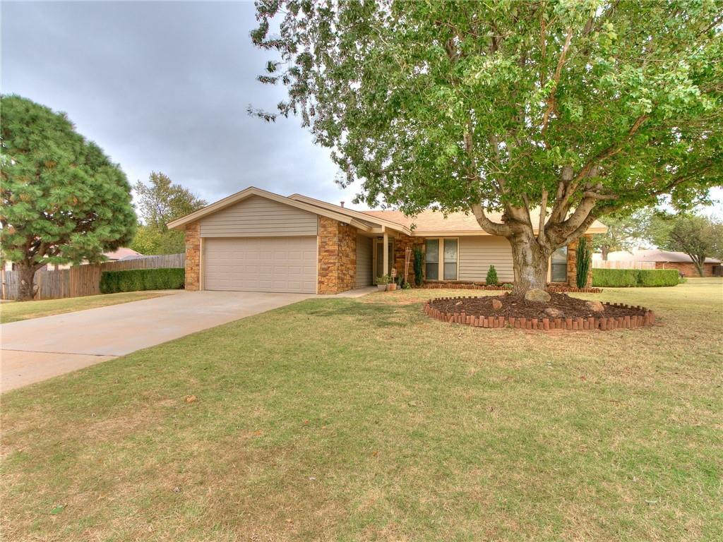It could be your lucky day!  This home is beautiful and very well maintained!  Located in the Mustang School District with easy access to shopping, I-40, & Kirkpatrick Turnpike.  Enjoy this spacious corner lot with potential backyard access!  This home has had many updates, including a high end roof 3-4 years ago, and heat and air just replaced in 2019. Large, open, and spacious, this home is great for entertaining!  There is a bonus room that is not included in the square footage that could be used for anything.  This is a beautiful neighborhood with mature trees and loads of character.