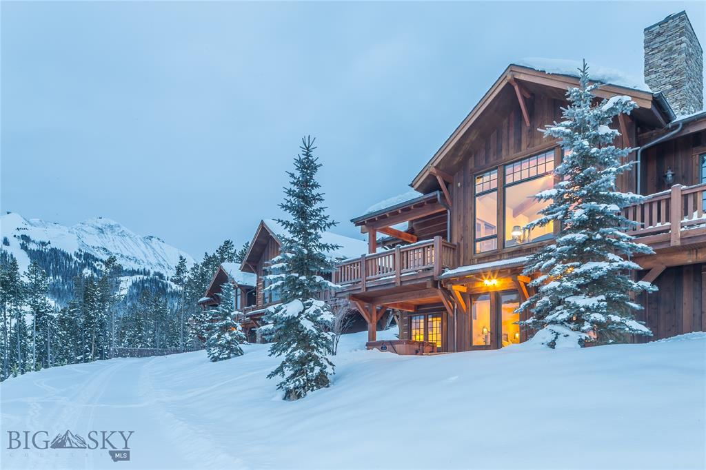 This beautifully appointed 4 bedroom, 4.5 bath Alpine Meadows Condo sits in the heart of Moonlight Basin. Enjoy extraordinary unobstructed views of the Spanish Peaks, Big Sky Valley, and Andesite Mountain from all windows and decks; as well as immediate ski access via the Alpine Meadows ski trail that conveniently meanders in front of the home. The property is offered fully furnished and provides families all of the comforts home. Granite slab and natural stone surfaces, hardwood floors, cathedral ceilings, with exceptional detail given both inside and out make this property one not to miss.