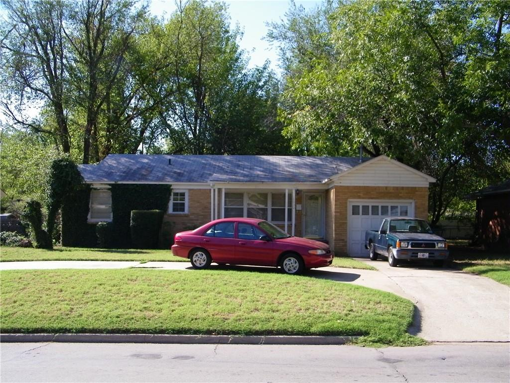 Back on market - prior contract busted before inspections.  Large oversized lot in-town with mature trees and only a block and a half from OU campus.  Notice the circle drive with plenty of off-street parking.  Roof replaced in 2013 and heat & air in 2021. Nice size laundry room ~ 9'x10'.   Great investment property with location.  Home is being sold in as-is condition.  Roof repairs over patio and laundry room will be completed before closing.  Call listing agent for details on access.  More pictures coming soon.