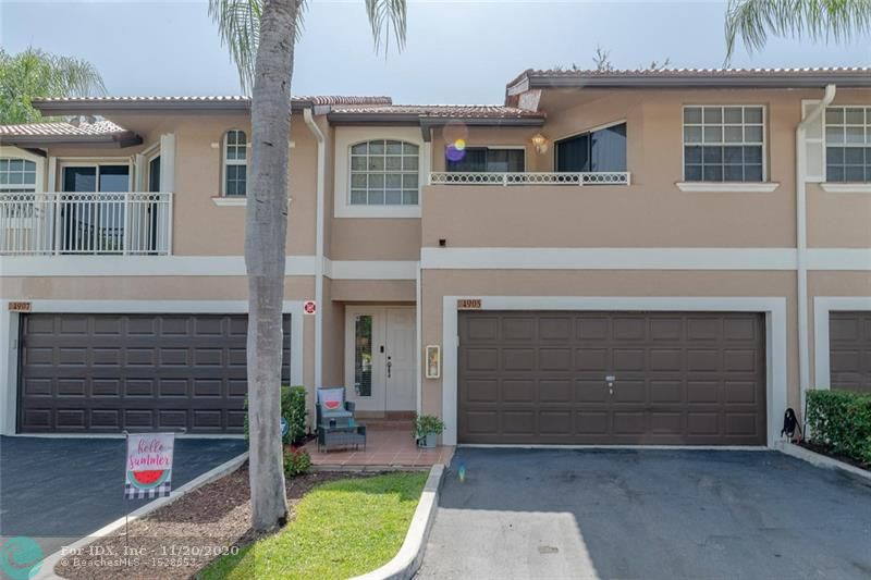 Wow!  Do not miss this huge townhouse with a 2-car garage in the desirable community of Coral Sun!  Shows like a model and has been meticulously maintained!  Outstanding features include: neutral tile on entire first floor; open, white kitchen with granite countertops and newer appliances; wainscoting; large master bedroom w/vaulted ceilings; huge walk-in closets; neutral paint; covered balcony and private, open patio!  Association covers roof, building insurance, water and more!  Enjoy the community pool just steps away from this unit. ** NO MINIMUM DOWN PAYMENT REQUIRED BY ASSOCIATION (Not FHA approved) **