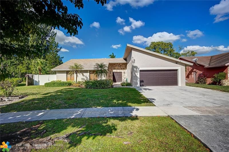THIS HOME IS NOT TO BE MISSED! 4 BED, 2 BATH POOL HOME ON OVERSIZED LOT! ALL THE BIG TICKET ITEMS ARE ALMOST NEW! 2019 ROOF & A/C, 2016 WATER HEATER! UPDATED OPEN KITCHEN W/ LOTS OF STORAGE SPACE! MASTER BEDROOM W/ SLIDERS LEADING OUT TO POOL & NEWLY UPDATED MASTER BATH W/ DUAL SINKS, NEWLY TILED SHOWER W/ RAIN SHOWER HEAD & MASSAGING JETS! SEP. LIVING, DINING & FAMILY RM. W/ MARBLE ACCENT WALL! UPDATED 2ND BATH W/ WOOD CABINETS, GRANITE & TUB/SHOWER COMBO! ENJOY ENTERTAINING IN YOUR PRIVATE, FENCED BACKYARD W/ POOL & SPA OVERLOOKING CANAL! NEW VINYL FLOORING IN MAIN LIVING AREAS! CROWN MOLDING! VAULTED CEILINGS & RECESSED LIGHTING! FRESHLY PAINTED EXTERIOR! HURRICANE SHUTTERS! SPRINKLER SYSTEM THAT FEEDS FROM THE CANAL! NEW SIDE GATE THAT OPENS TO ACCOMMODATE YOUR BOAT, ETC. A MUST SEE!