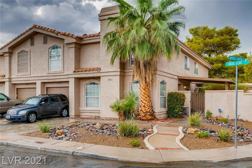 This charming 3 bedroom townhome won't last long!!! Come and see this gem located on a corner lot across from the 2nd Community pool of Stone Canyon. This 2 story townhome boasts a cozy courtyard and plenty of living space. MUST SEE!!!