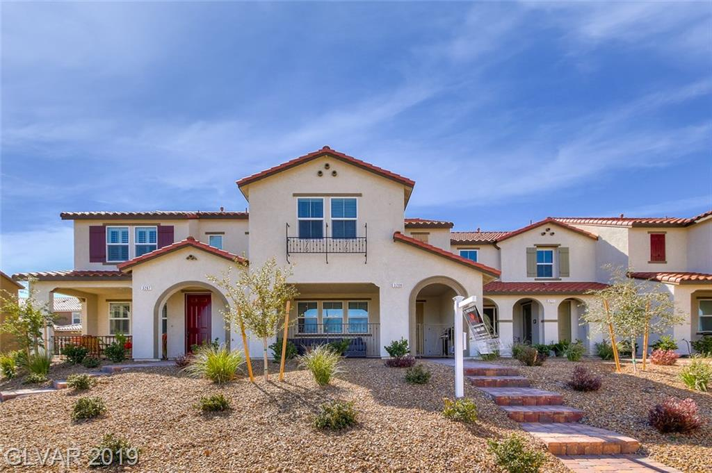 **OPEN HOUSE - Monday, May 13th From 11AM-2PM**  Like new KB Townhome 3 bd/2.5 bth Located in Inspirada master plan community. Over 1800 sqft with designer ceramic wood plank tile floors, trendy grey+white concept kitchen w/ flat panel cabinets and attached garage. Grey granite countertops w/ under mount SS sink, pull out faucet, SS range and microwave. Upstairs loft and roomy master bed w/ en suite bath and gorgeous white subway style overlay. Truly a home & community you will forever enjoy.
