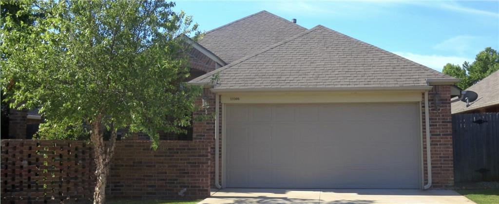 Beautiful Brick Home in NW OKC Gated entry, neighborhood pool + sidewalks! Sweet, interior corner lot with a delightful front porch. Huge, open floor plan, great for entertaining! Easy to cook kitchen includes oversized farm sink, gas range, stainless appliances. High ceilings, ample storage, wet bar, pantry in utility room. Quiet, fenced backyard for relaxing evenings!