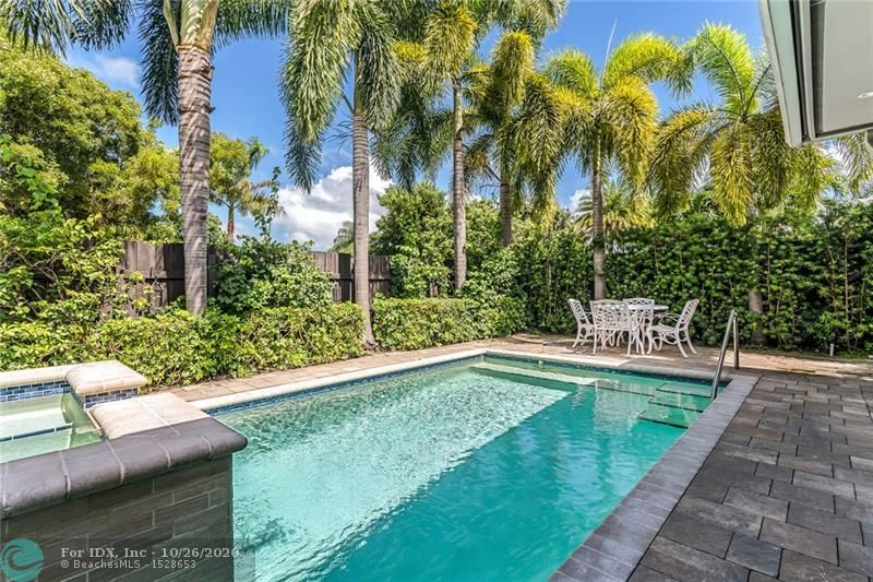 Welcome Home to 730 NE 19th Avenue in E. Fort Lauderdale's highly desirable subdivision of Victoria Park. This lushly landscaped corner lot is situated within walking distance of restaurants, shopping, markets, fitness centers, spas, movie theaters, boat rentals, parks & Fort Lauderdale Beach. Completely updated to satisfy today's tropical lifestyle with a heated pool & spa, hurricane impact windows & doors, culinary kitchen with upgraded appliances & gas cooktop & new bathrooms. The luminous floor plan features a spacious great room & dining area & eat-in kitchen that opens onto a long patio for al fresco dining. The master suite provides the ultimate retreat with a lavish bathroom & custom walk-in closet. Ideal for entertaining with a circular drive & long side driveway Sq ft from IMAPP