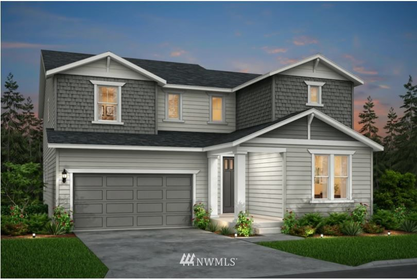 "One of a few remaining opportunities for the ""Roslyn"" at Huntington Woods, and you get to personalize the interior colors and finishes!   Homesite 65, tucked into a private corner of the community, features the Pulte Homes floorplan that includes a guest suite on main floor.  3 other spacious bedrooms upstairs, all with walk-in closets.  The luxurious owner's suite allows space for a seating area, and the bath includes  expansive dual vanity and dream-size walk-in closet.   Estimate completion of your new home will be late summer/early autumn 2021.  Photos are of model home, variety of upgrades and options shown, some may not be available."