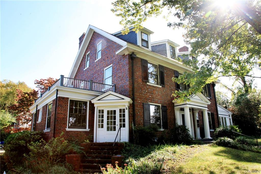This enchanted Colonial Revival home is sumptuous in its demeanor, and its elegance. Built in 1910 she proudly sits on two lots, encompassing almost an acre, with a fabulous, and so complimentary to the times, Victory Garden, mature trees, and butterfly habitats. Many of her historic features remain gorgeously intact, revealing refined moldings and trim. With a touch of whimsy, and a nod to the past, you will absolutely love this abundant 4929 sf home. Delight in becoming a part of its history by adding your own touches. The grand foyer and staircase are perfect for any head-turning entrance; the formal dining room made for those scintillating soirees.  Oak floors and crown molding grace this beauty throughout. In the 1940s a Drs office was added, that serves as an ensuite now with its own entrance, kitchen, full bath, bed, office, and living space (Extra Income rental currently). Not to mention the Carriage House above the garage could be finished. Discover why Ginter Park is such a prized location. Fun historical fact; this parcel, and the two adjacent, were once owned by Richmond's famed Joseph Bryan.  Home qualifies for State and Federal Historic Tax Credits!