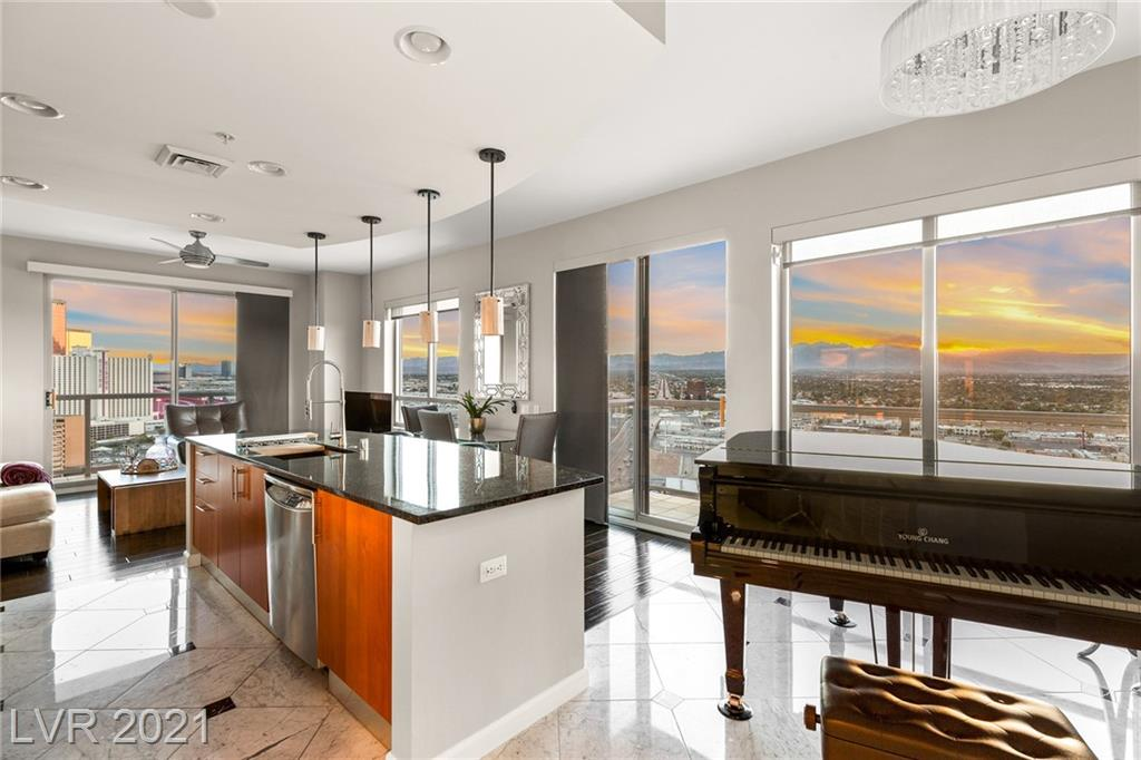 An elegantly planned two-bedroom residence packed with upgrades in the Allure tower. This immaculate home is located in the heart of Las Vegas! Meticulously cared for and highly upgraded master bathroom that will lead you into your dream custom closet. You do not want to miss the remarkable panoramic views of the strip through floor-to-ceiling windows. Minutes away from freeway access! A Must See!
