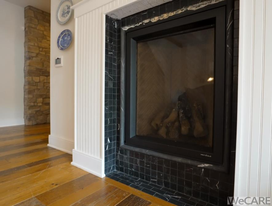 Fireplace in owner's suite