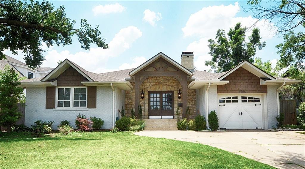 Looking for a home in the desired eastern side of Nichols Hills with lots of charming details?  Look no further!  This 3 bedroom, 2.5 bathroom home is spacious and offers lots of great areas for entertaining. Once entering the main living room, you will be greeted by vaulted ceilings with beautiful wood beams and a cozy fireplace surrounded by built-in bookshelves.  This room connects to the kitchen and formal dining area (which contains a second fireplace, as well!).  A nice flex room has been added, which is complete with built-in desks, a lofted area (could be used for a play area or storage!), and beautiful floor to ceiling windows that open up to the backyard. The master bedroom has a great walk-in closet and nice spacious bathroom.  Schedule a showing today!