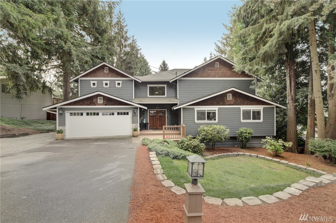 """Craftsman-styled home has been extensively remodeled with 5,145 sq ft of living space. 2-story with Basement, 5 Bdrms plus Bonus, Office, 4.75 Baths, and 2-car Garage. Kitchen has S/S appliances and quartz counter tops. Complete 2nd floor addition """"all permitted"""" boasts spacious luxury master suite. The backyard is a dream with a deck that runs the length of the home, gazebo-styled covering with propane fire centerpiece, in-ground trampoline brand new 8 person hot tub and a separate swim spa."""