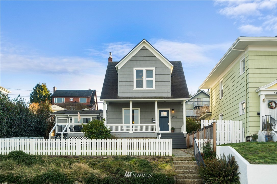 This charming updated craftsmanship home in desirable North Tacoma has so much to offer! Wake up to the astounding view of Commencement Bay and take a walk through Puget Creek Trail down to Point Ruston waterfront. Just minutes away from Proctor District shopping. This house is perfect for entertaining your guests with spacious great room,  fully-fenced paved backyard with a fire pit, and the front patio with the view of the bay. Tons of storage all throughout the house including the detached spacious workshop.