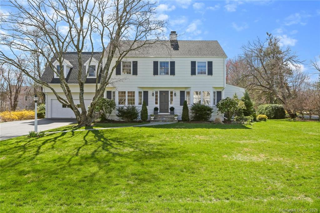 Stunning lower Easton Colonial on sought after quiet street boasting modern flare and loads of charm.   This beautiful home is complete with custom eat in kitchen featuring stainless steel appliances and Carrera marble countertops which is sure to be the center of the home.  The gracious living areas flow seamlessly together  featuring a large living room with fireplace,  gracious dining room, den/office w/ built ins and  French doors for privacy.  A large sunroom which lends to many options, mudroom and half bath complete the first floor.   Many access points lead to the beautiful private backyard with patio perfect for entertaining.  Upstairs you will find a Spacious Master Bedroom w/ cathedral ceilings, sitting/office  area and recently renovated serene Master Bath.   Don't miss the oversized walk in closet.  Additionally you will find 3 generous bedrooms and 2 full renovated baths.   Other features include hardwood floors throughout , walk up attic and 2 car attached garage.  Prime lower Easton location close to all amenities.  This is the one your clients have been waiting for - Modern updates with all the charm of a classic CT colonial.