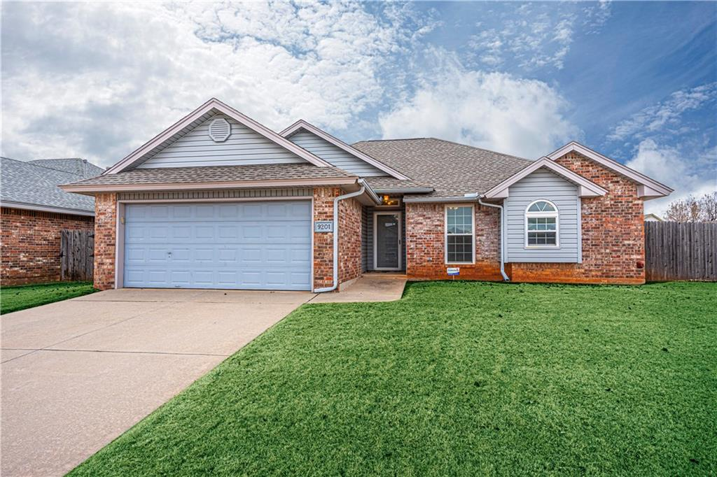 Quality constructed home has been well cared for throughout its life.  Updated windows and newer wood flooring in the large living area.  Large master with walk in closet and spacious master bathroom.  Clean and large fenced backyard features a storage shed.  Close to schools, Tinker AFB, Will Rogers Airport, shopping and restaurants.