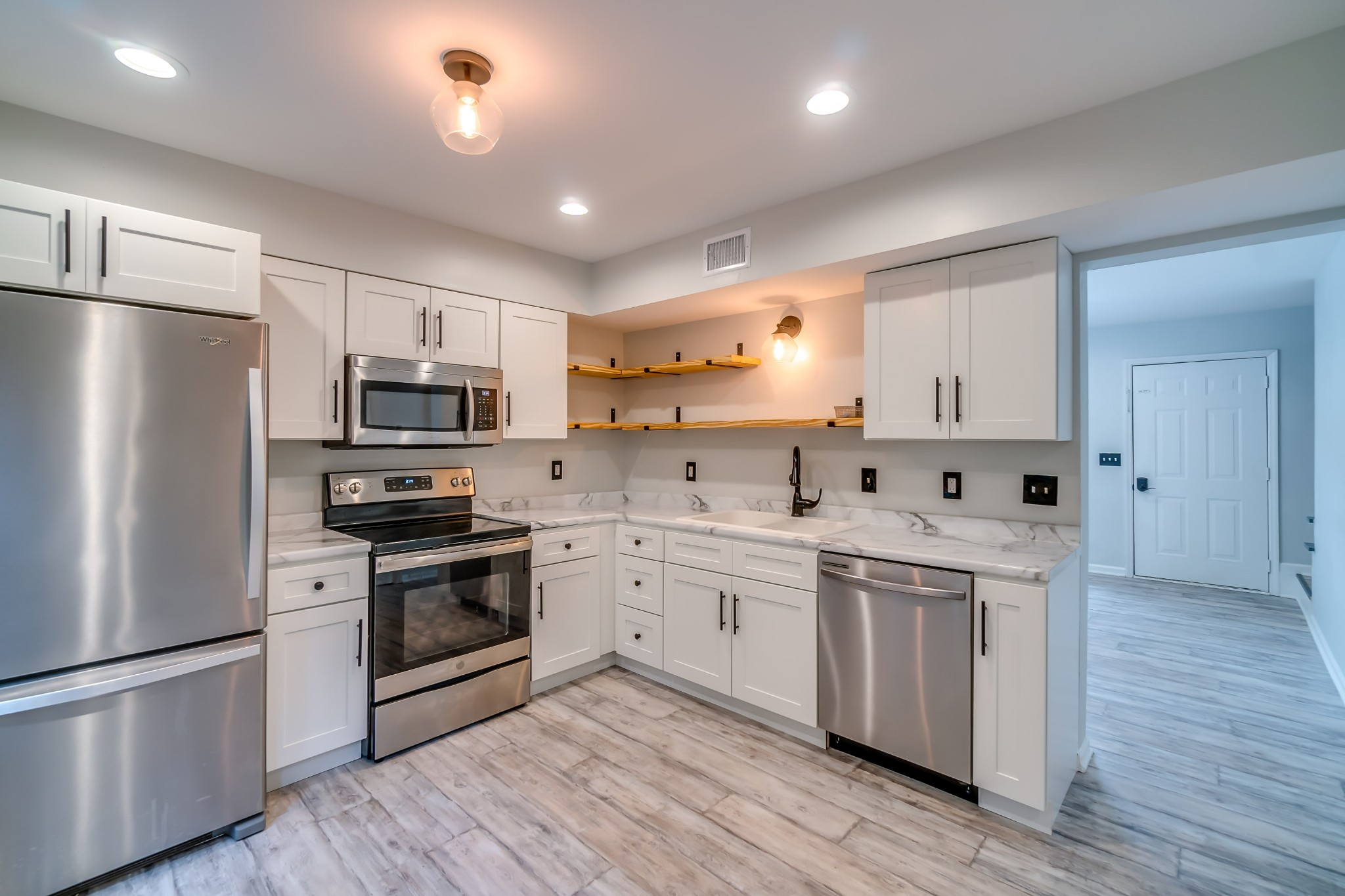 Renovated townhome in fast growing area! Great location,15 minutes from downtown Nashville and airport. Fenced in backyard, patio, updated kitchen, new windows, HVAC less than 3 years old, no HOA! Could be used as a rental. Property is vacant - sold AS IS.