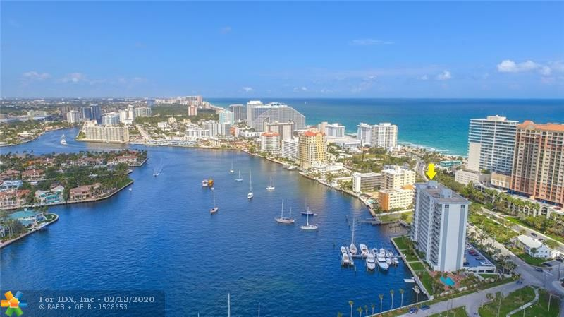 Location ! Location ! Location ! Only Steps to the Pristine sands and Turquoise waters of Fort Lauderdale Beach, RARE high floor end unit with two private balconies, one balcony with an extraordinary Intercoastal waterway view! and the other balcony with an amazing direct Ocean view. This Luxury Beach Condo has been updated with only the finest, no expense spared Decor! Enjoy Spectacular Views from your state of the Art Kitchen, or enjoy a direct ocean view from your over sized Family Room. Special walk in laundry room, along with a spacious office / 3rd bed room with a direct water view! If that was not enough, bring your yacht! The Association has a private deep water Marina with slips to accommodate vessels up to 65 foot! Located only minutes from the ocean outlet with no fixed Bridges.