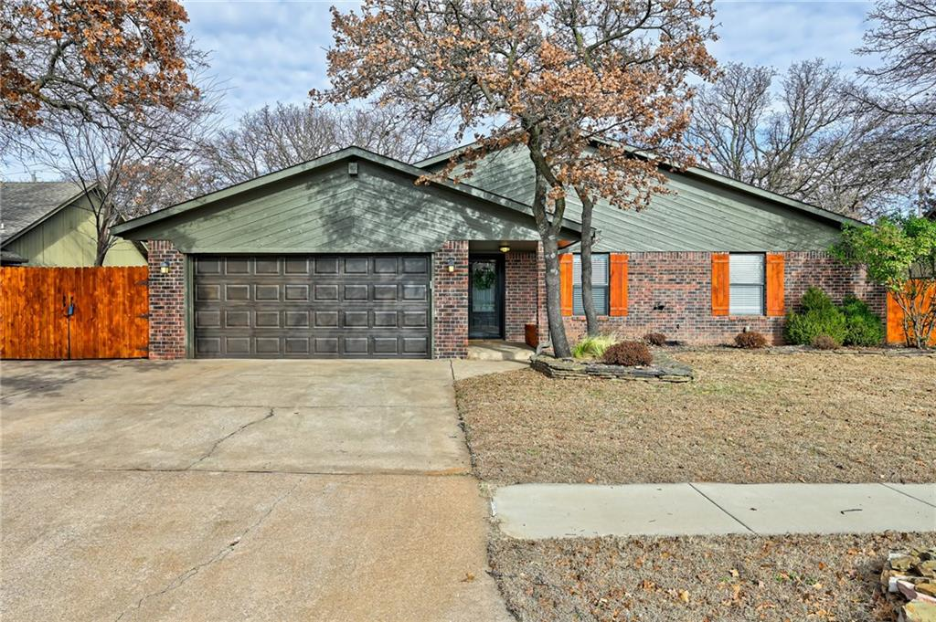 This is the home you've been looking for!! The perfect location in SE Edmond on a Wooded 1/4 Acre lot!! Plenty of space to play or entertain in the backyard w/extensive multi-level decking & the treehouse you dreamed of as a child! Inside, you will find a Kitchen with Newer Granite Counters & Backsplash (5/2019), stainless steel appliances, Stove (5/2018), Pantry, Dining space, and indoor laundry area! Laminate wood floors & tile throughout…no carpet!  Large living w/ Corner fireplace, and french doors to one of the exterior patios! Flex space off living could easily be used as a study, formal dining, or playroom! New ROOF 5/2019! HVAC 2018! Hot Water Tank 10/2019! Exterior Paint & Garage door 5/2019! Skylights 5/2019! Extended Drive for extra parking and a Double gate to the Backyard! NOTHING TO DO, BUT MOVE IN!! Convenient to I35 & the Kilpatrick Turnpike. Coveted Chisholm/Cimarron/Memorial schools!! Don't miss out!
