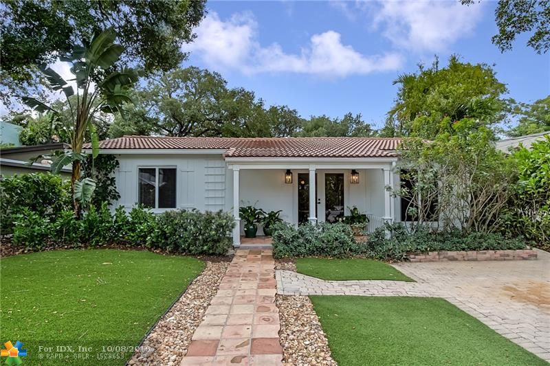 Impeccable Classic Florida Bungalow with an Island Feel.  Located in the heart of Tarpon River, at SW 7th Street and Coconut Drive.  One block in from the New River.  Extremely Private 2/1 Home, 1,200 SF +/-,  with a Pool.  … Walled front yard, Turf Grass, Paver Driveway, Extra Parking, Front Porch, Renovated Interior, Large walk-in Closet, Large Backyard with room for expansion, Screened Back Porch, Tropical Landscape with large mature trees, Shed, Fenced Backyard,  …  Downtown Location, minutes from the Airport, Highways, Brightline… Performing Arts Center, Fort Lauderdale Riverfront, Cooley's Landing Boat Launch, Beaches, Las Olas, Himmarshee, etc…