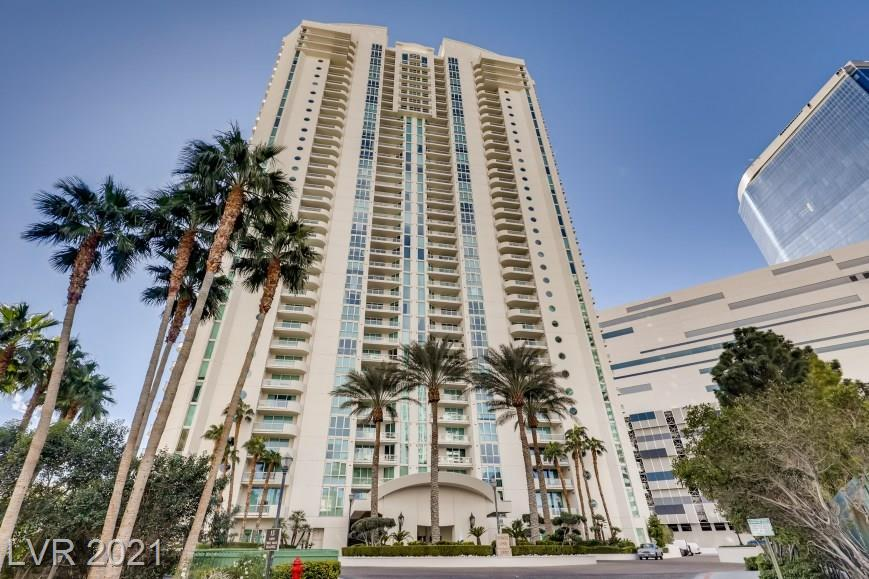 Breathtaking, large, bright spacious 2 master bed room ,and 3 bathroom  with jetliner views from las Vegas  Downtown, strip,& mountain on the 18th floor .Build with  highest quality of materials and designer finishes, unit features a wall of glass doors that open onto a patio running the length of the living area and kitchen. Enter into the master from the living area & you are greeted with a spacious bedroom, complete with a spa-like bath featuring a Jacuzzi tub outfitted with a one-s a large vanity, and a walk in shower. The gourmet kitchen features state of the art appliances with custom chic imported wood cabinets, modern countertops, Meticulously designed with style and sophistication, highlights include , white Marble floors, large size of balcony .  1 additional bedroom, 2 large bathrooms, and hidden closet space.  This full service, 24 hrs.  complimentary concierge ,valet, limousine ,management pool, gym services plus gas, water, sewer, trash ,cox cable, and 2parking garage .