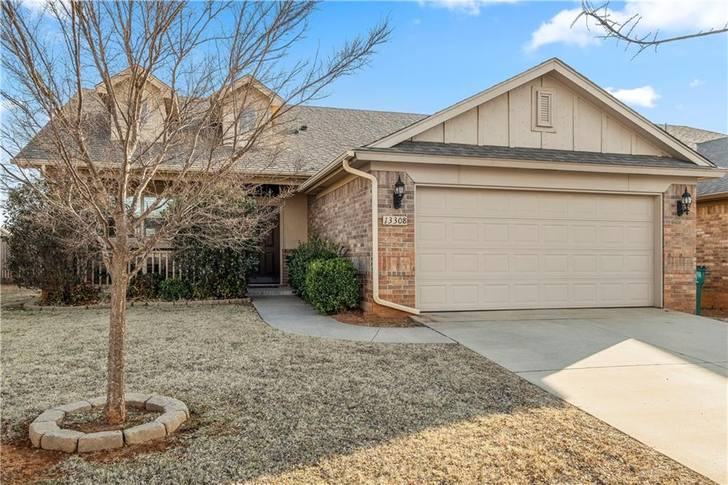 This Energy Star home is an open three-bedroom with a lot of storage space. Eye-catching features in this home are the Quartz kitchen countertops with travertine backsplash, marble top bathroom counters, covered back patio, and accent paint.