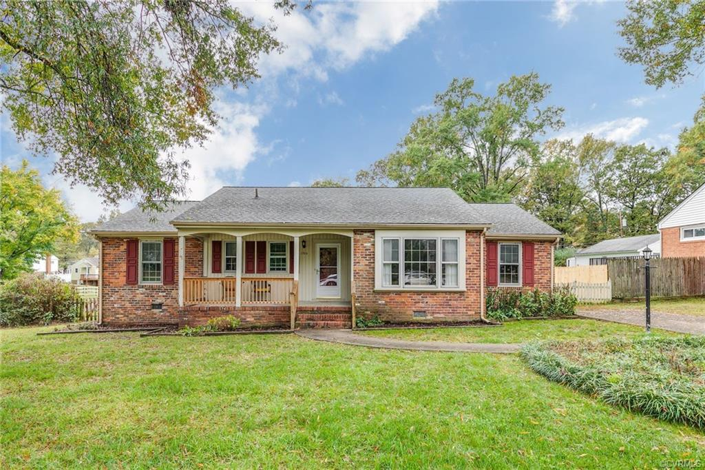 Sited on a corner lot in the established neighborhood of Tuckahoe Village is this charming 3 bedroom, 2 bath brick ranch style home with covered front porch. Hardwood floors throughout most of the home. Wonderful floor plan with foyer, living room with bay window, dining room, and eat-in kitchen open to family room. The family room features a gas fireplace, built-ins, and a ceiling fan and leads to the lovely fenced in backyard. Separate laundry room. Whole house generator. 2 sheds. Paved driveway. Do not miss this gem only minutes from the shops and restaurants in Short Pump and on Patterson Avenue.