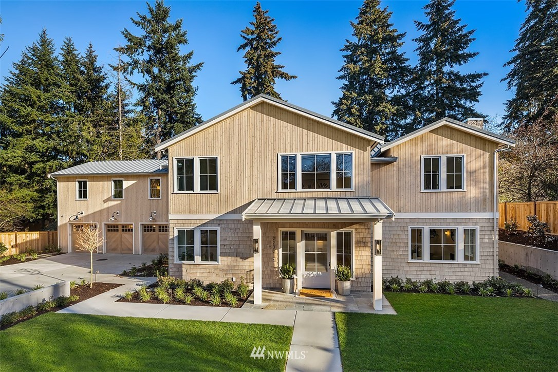 Pine Bay Collective presents this brand-new home, a fresh vision of timeless, sophisticated style on Evergreen Point. Luxury finishes & a light-filled floor plan merge form with function boasting multiple areas for gathering/working/studying. For those who love to entertain, the main floor offers wonderful spaces for intimate dinner parties & festive celebrations. Highlights of the 6,100+ sq ft home: a designer kitchen with top-of-the-line everything; epic master suite with spa-worthy bath, walk-in closet & yoga room; & an outdoor living room with bluestone patio, fireplace, bbq & heaters. All the brands you love: Viking, Bluestar, Sub-Zero, Rejuvenation, Waterworks...the list goes on. A beautiful, approachable design in a treasured locale.