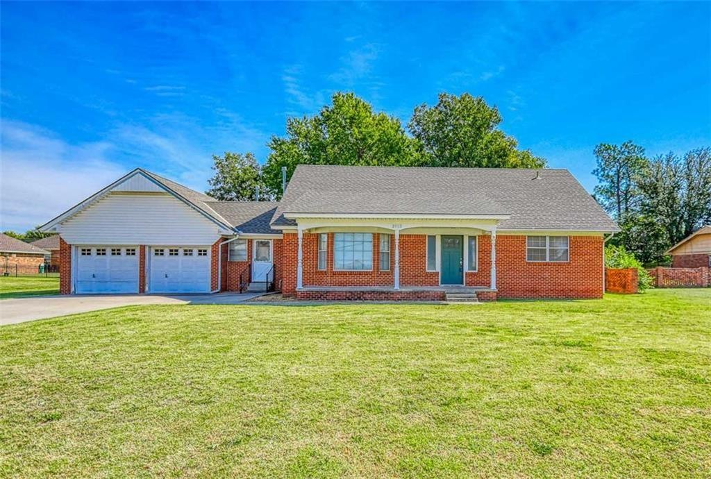 Come by and see this 1.5 story home that sits on .57 acres in northwest Moore. Conveniently located close to shopping and schools. The Living Room is very spacious with bay windows that let in lots of natural light. The den has a masonry fireplace that invites you to cozy up on those cold winter nights. The eat-in kitchen is very large with plenty of space for a kitchen table and chairs and even has a built in desk. Downstairs you'll also find a bedroom, a study and a beautifully remodeled full bathroom. A half bath and laundry room complete the lower level. Upstairs are 2 bedrooms and another completely remodeled full bath. Storage galore in this home is a welcome plus. The electric panel was brought up to code in 2011. The HVAC was new in 2003. Hot water heater was new in 2013. In 2012 the water main AND the gas main lines from the house to the street were replaced. Out back you'll enjoy the large, mature trees as you relax on the back patio.