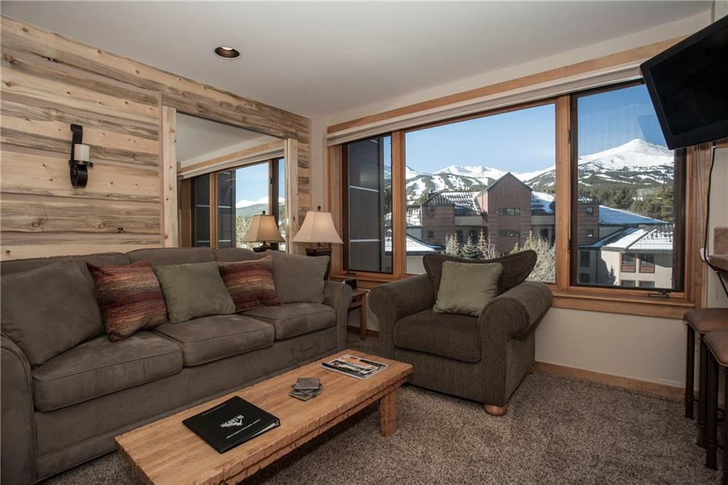 Wonderful updated family room with custom wood chinking and great ski views!