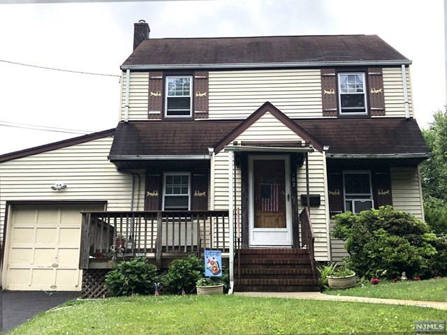 Great Golf Section location, great oversized property, & great potential for this deceptively large 3BR/2.5 bth Colonial in desirable Maywood! 1st flr has Large Living Rm w/hardwood flrs, Dining Rm/Home Office, Full Bath Rm, & great back extension w/updated kitchen w/granite counters & brek bar, plus rear Dining Rm or Family Rm. 3 BRs & Full Bathrm on 2nd flr including Large MAster BR w/wall of closets, & large 2nd BR! Pulldown steps to sheetrocked attic for great storage. Finished bsmt w/ceramic tile for great Rec Rmn/Play Rm/Gym & more. Plus Laundry Rm & Bsmt Half Bath. Great potential to update this home to your own designs! Plus the fabulous backyard! Huge property w/deck, patio & above ground pool! And w/the additional grass areas, you have an amazing backyard for years of gatherings & memories! New furnace, newer hot water heater, 1 car garage. Sold Strictly AS-IS, but great value! Close to schools, shopping & NY Bus 2 blocks away! All in popular town of Maywood! DONT MISS!