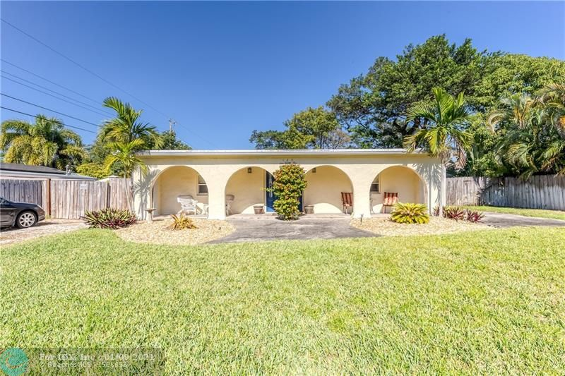 This great Wilton Manors family home is a great opportunity that rarely is found in the area.  This very well maintained light, white and bright 4 Bedroom / 3 Bath pool home will not last long on the market. The property is situated on an over-sized lot and is ideally configured with the main house having 3 Beds/2 Baths and the added extra bonus of a 1/1 detached guesthouse / cottage with a large solar heated pool separating them.  This is perfect for a multi-generational family living situation, the investor wanting an income producing situation or for the owner that wants a home office or ultimate man cave. The pride of ownership abounds in this move-in ready residence. Great location just minutes from the Wilton Drive entertainment district, Downtown Fort Lauderdale and more!