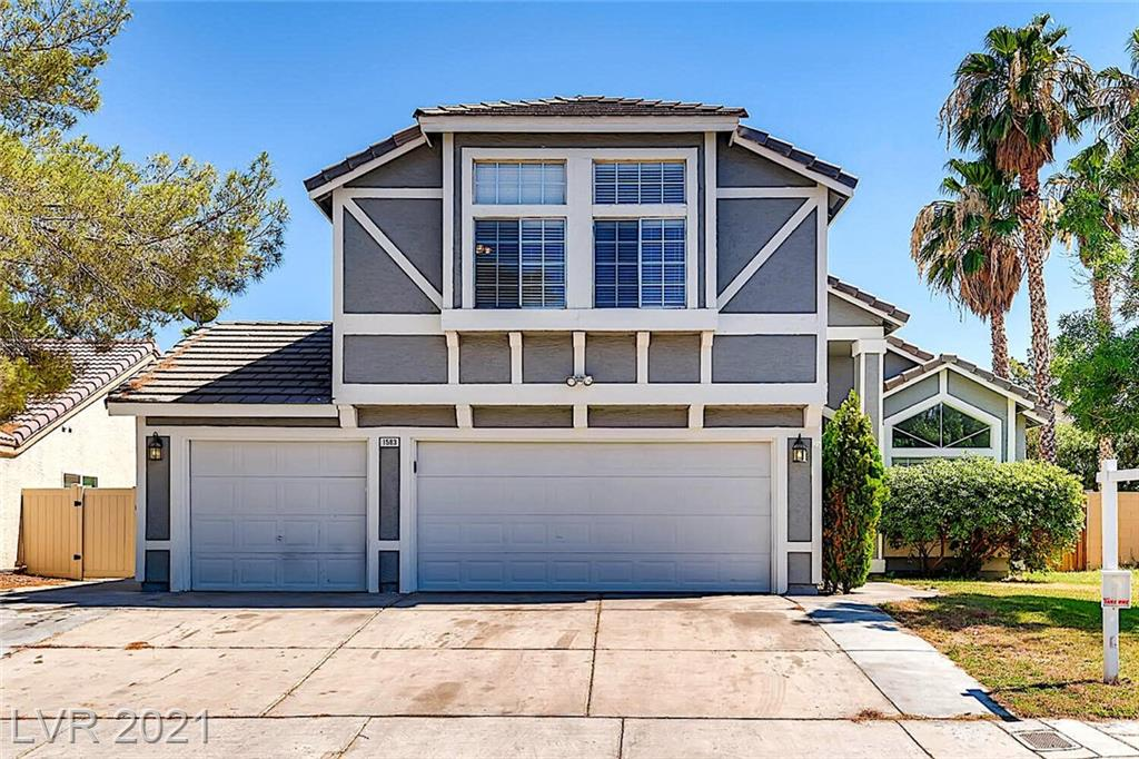 Beautifully upgraded 4 BEDROOM home on a CUL-DE-SAC in great CENTRAL location. 3 CAR garage. NO HOA. Fully renovated gourmet kitchen with double ovens, custom cabinets galore, granite counter tops - in breakfast nook too! Custom tile work in all 3 BATHROOMS. Window seat in living room bay window is a great spot to sit! Custom cabinetry and shelves in secondary bedroom provides EXTRA STORAGE. Like new Travertine floors and wood laminate throughout. Gas fireplace. Ceiling fans in all rooms. Spacious open floor plan with vaulted ceilings. MATURE LANDSCAPING includes lovely shade fig tree bearing fruit! Custom redwood raised garden bed and bench seat overlooking firepit in large backyard. Shed and garden equipment stay. Loads of storage including fitted cabinets and shelves in garage. One half mile to I-215 and on to I-15. One half mile to Sunset Park, trails, dog park and lake. 5 minute drive to McCarran International Airport! You should definitely check this one out.