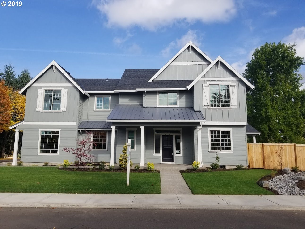 OPEN HOUSE this Saturday 2/22 1:30-4pm. New construction in sought after Willamette neighborhood. 10,000sf flat lot!3 car oversize garage. Massive area for future RV parking on side of garage. 5 beds (5th bed could be bonus room) + main level office. AC, tankless H20. Fenced, front + back landscaped w/sprinklers.2 Large covered back patios. Kitchen has large island, pantry, quartz. Master suite has free standing soak tub + title shower.