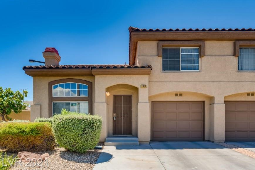Rare Opportunity in the Beautiful Summerlin Buena Vista community! Comfortable Townhome living with an attached one Car Garage & enclosed private yard with covered Patio & Free standing BBQ Island for relaxing in the warm summer nights. Seller just had the Carpets shampooed and a new garbage disposal installed in the Kitchen. All Kitchen Appliances and Washer/Dryer included. Refreshing Community pool for the Summer