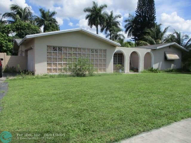 """Location Location Location!!!  Large 3 bedroom 2 bath home with a 2-Cg in desirable Plantation Gardens. Great home for the growing family willing to upgrade with their own taste or an excellent investment opportunity. Huge yard with lot with canal view and room for a pool. Conveniently located in the heart of Plantation and close to everything!!! Property is occupied, the property is being sold """"As Is"""" / Occupied. The occupants are not to be disturbed / approached by any party/entity."""