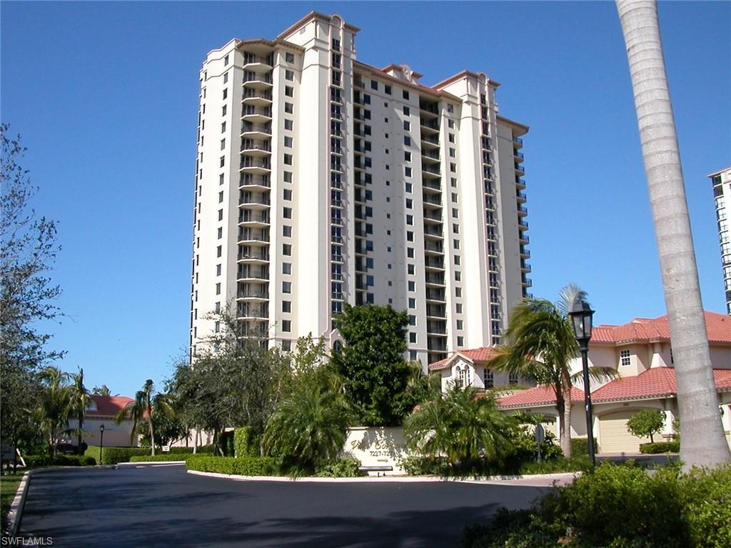 Outstanding 17th floor Gulf Views from the spacious lanai. Amenity building with 24/7 security, under building garage, 2 guest suites, social and fitness centers. Located on the berm, walk or tram to the beach. Pool and Spa located beside the building on the south side of the building delivers tons of sunshine.  Superlative community amenities include tennis courts and program for you and your guests, attended beach where chaises, chairs and umbrellas are provided and set up for you....no carting so much stuff to the beach.  The Community Fitness Center is all you'd want it be.  There are two beach restaurants, with sports bars, casual, fine and take out dining. Shop and dine at Waterside Shoppes.  Also, in the neighborhood, enjoy musical and dramatic performances at The Artis Philharmonic and  extraordinary exhibits at the Baker Museum.    Buyer to pay $7500 at closing to Pelican Bay Foundation. Parking space 37; Storage 62