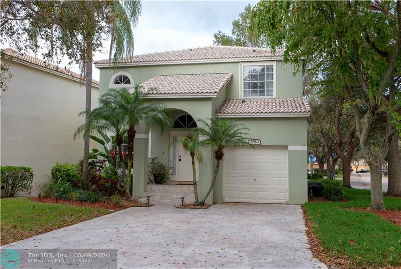 Charming 3 Bedroom 2 1/2 Bathroom Single Family Home located in Regency Lakes Coconut Creek. Community Features include 24 Hour Security, Amazing Landscaping with Community Pool, Tennis, Basketball and Volleyball Courts.  Diagonal Tile throughout First Floor and Wood Plank Tile in 2nd Floor Bedrooms. Neutral Colors and Very Clean.  Kitchen has Bar Seating and Breakfast Area.  Large Master Bedroom with Walk In Closet.  Newly Renovated Showers in both Full Bathrooms.  Corner Lot with 1 Car Garage. Easy Access to Sawgrass Express and Florida Turnpike