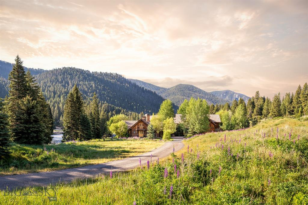 This is not a misprint, all 3 Premier Properties will be sold as a package along withMLS#360584 and MLS#360583. Montana Dream Property! Elegant log home on the banks of the iconic Gallatin River, a blue ribbon trout stream of the world sitting on two 10 acres lots plus a 1.02 acre ski in/ski out lot at Spanish Peaks Mountain Club to provide a golf or ski social membership.Privacy,fabulous mountain views,glorious wildflower fields and the Gallatin River for as far as you can see.Skier?Golfer?The included ski in/ski out lot gives you the opportunity to join Spanish Peaks Mountain Club.Enjoy a world class Signature Weiskopf 18 hole golf course, tennis & pickle ball courts, miles of hiking and mountain biking trails that double as groomed nordic/snow shoe trails in the winter,2 1/2 miles of a tributary of the Gallatin River and a clubhouse with fine dining,a lively bar,men's and women's locker rooms,workout facility,private pool,hot tubs & ski access.Benefits at the Montage hotel as well.