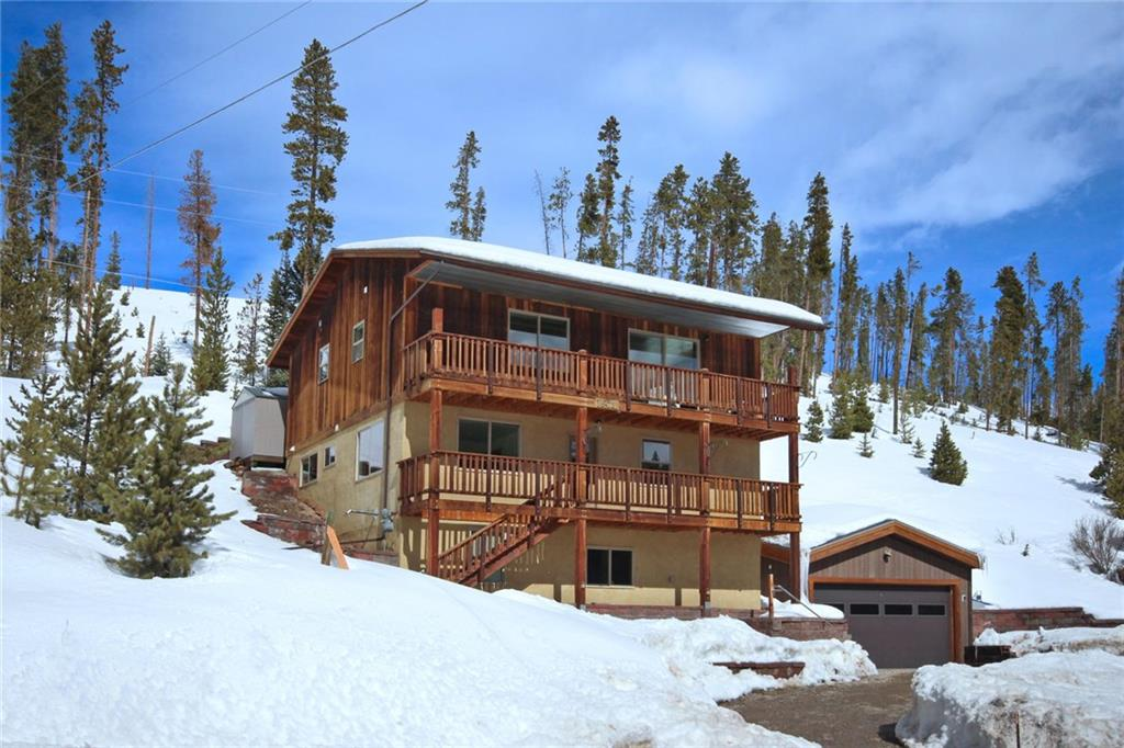 Fantastic location offering convenience to all - skiing, trails, shuttle bus, Town, Hwy 9 N at stoplight, Golf Course, Rec Center ... plus backs to Nat'l Forest!  Home is light and bright with most all day sun and views Down Valley and Ten Mile.  Great layout with separation of living spaces and sleeping for a crowd. Beautiful finishes. Brand new in 2011 when purchased; detached two car Garage added since.  Ample storage and addn'l lower level space can be finished out further. Amazing value !!