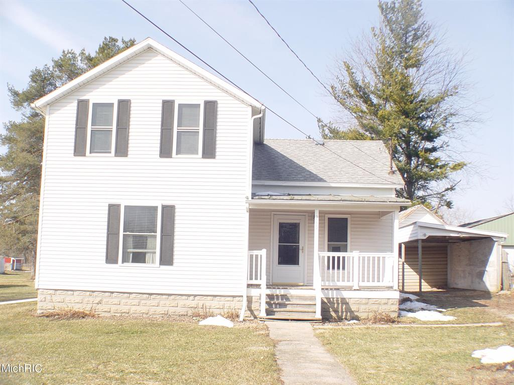 TMC 355 looking for a nice starter home in the village of Vermontville totally up dated from top to bottom, new kitchen comes with all appliances range, refrigerator, dishwasher, microwave , dining area, family room, living room, bath and a half, MFL, nice city lot, extra-large  one stall garage