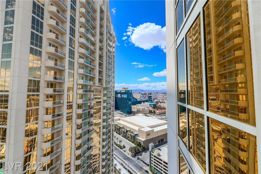 WOW :AMAZING HIGH FLOOR CORNER 1 BEDROOM FULLY FURNISHED SUITE WITH BALCONY OFFERING 360 LAS VEGAS VIEWS OF THE STRIP, VALLEY, POOL AND TOP GOLF ! THIS TURN KEY UNIT FEATURES STAINLESS APPLIANCES, FULL EAT IN KITCHEN, GRANITE COUNTERS, ENTERTAINMENT CENTER, WET BARAND PRIVATE OWNER CLOSET WITH SAFE. BEDROOM IS COMPLETE WITH A KING BED OVERLOOKING THE STRIP, LIVING ROOM PULL OUT COUCH COMFORTABLY SLEEPS 4. LUXURY AMENITIES INCLUDE HEATED POOL/SPA WITH CABANAS, GYM, LOUNGE WITH BAR, VALET , CONCIERGE AND IS DIRECTLY CONNECTED BY PRIVATE WALKWAY TO FAMOUS MGM GRAND ALONG WITH TOP GOLF AND WET REPUBLIC DAY POOL CLUB AT YOUR FINGERTIPS ! AIRBNB APPROVED ALSO OFFERING IN HOUSE RENTAL PROGRAM . MUST SEE !!