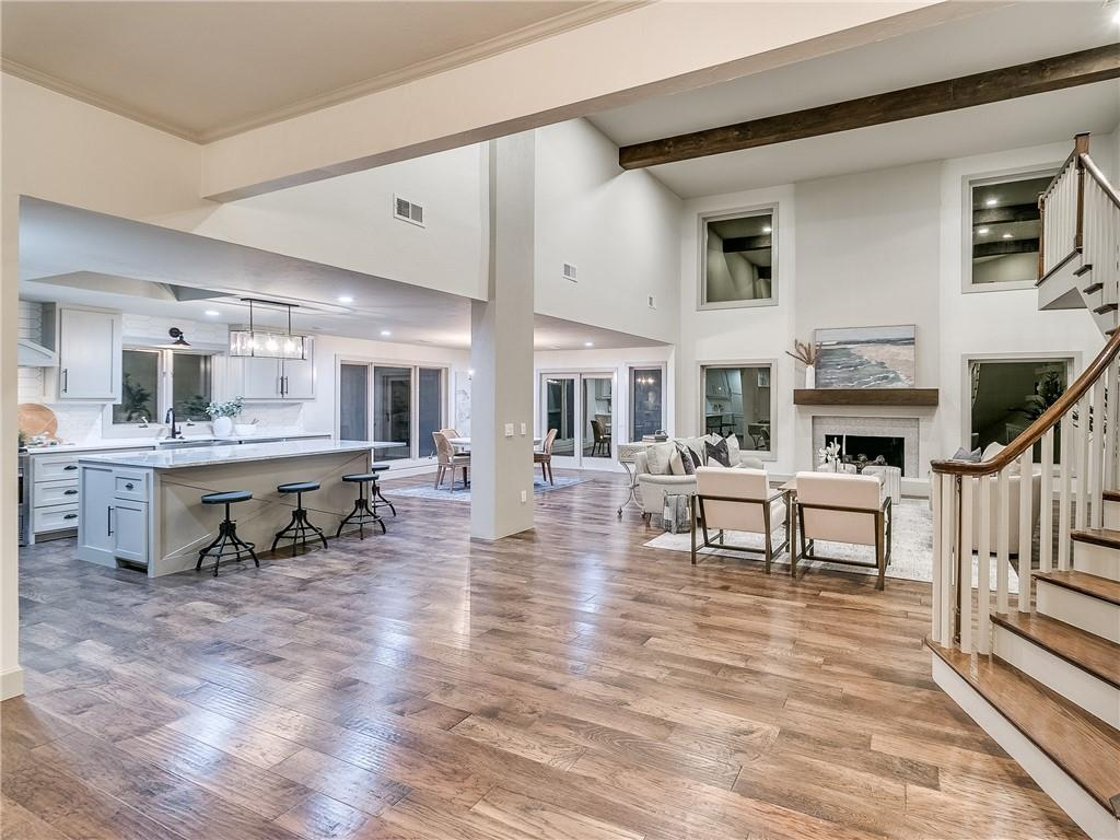 LOCATION, LOCATION, LOCATION!!!! Stunning complete remodel in the heart of OK in the highly sought after Nichols Hills! This is a must see! The grand entrance and high ceilings & with large wood beams draw you right in. Tons of natural light through all Pella crank open windows. A desired open floorpan with a dreamy Staircase. All new Cabinets, trim & interior doors & recessed lighting throughout the home. New designer tile, fixtures & beautifully toned dark wood floors. Some of the best features are the large island & porches, office area that can double as a huge walk in pantry, tons of cabinets and storage & great mudroom. Downstairs Master & guest bedroom, his and her master closets & more. 40K spent on the foundation alone with RamJack/American Leveling with a transferable lifetime warranty! 5 year workmanship warranty on the roof! And all of the properties concrete is brand new!