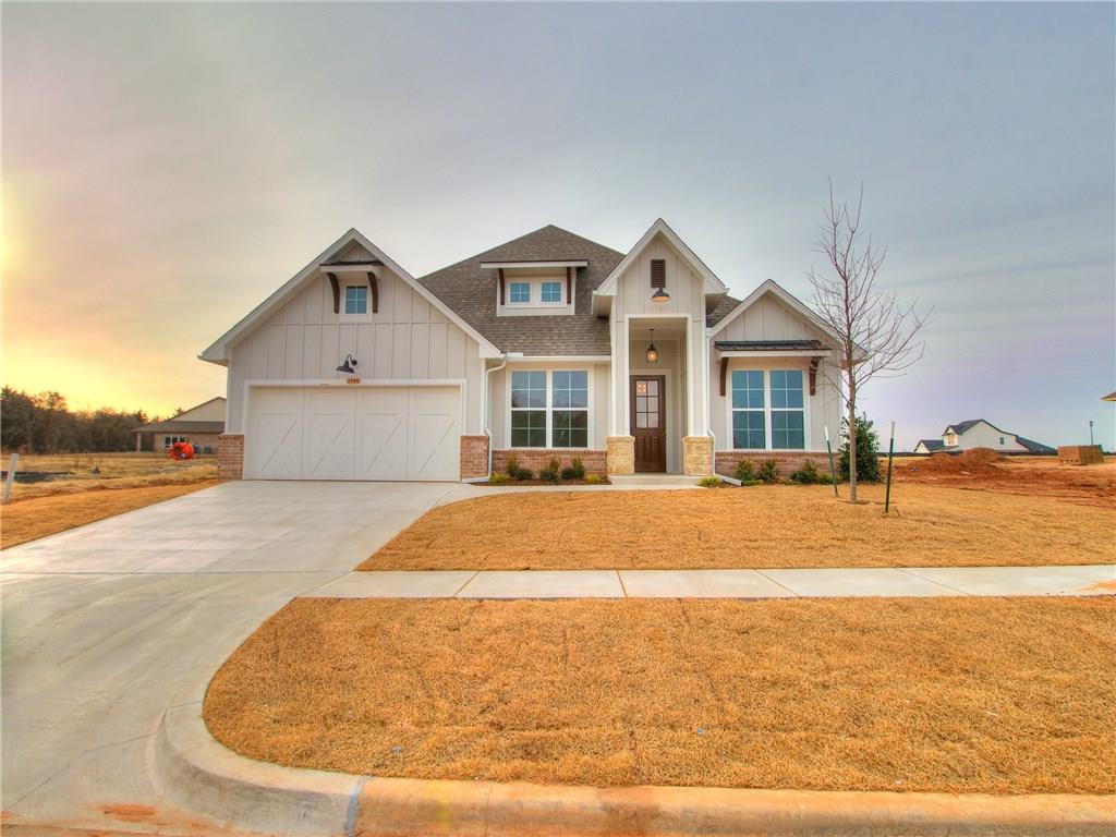 Welcome Home to this New Home in one of Edmond's Premier New Communities!!  The Creekside at Cross Timbers offers Full Lawn Maintenance to it's Families along with Resort Style Amenities~ Our Newest Floor Plan is Complete with 3 Bedrooms, 2 Bathrooms, One is a Jack and Jill Bath, Study right off the Entry, The Heart of the Home is the Living/Dining/ Kitchen Area with Stainless Steel Appliances, Cooktop, Built in Oven and Microwave, Did we mention our Cabinets?? Soft Close Doors and Drawers all the way through the home and to the Ceiling in the Kitchen,  Walk In Pantry, 3cm Quartz Countertops surrounded by Windows that look out to the Covered Patio, 2 Car Garage with a Workshop Space!!! Beautiful Tile Selections Chosen just for You! We Can't Wait For You To See It!!!
