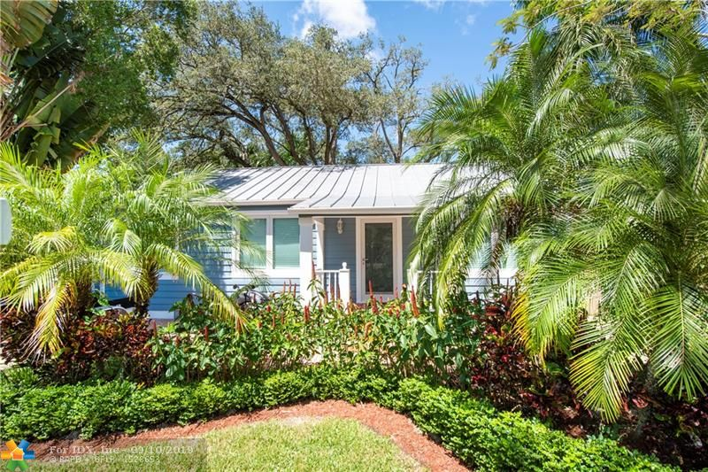 Gorgeous, fully updated 3/2 single family home in the charming, historic Sailboat Bend. This piece of perfection has over 50,000 dollars in new updates. The tropical oasis is set on a oversized lot with a pool and Chicago brick. No expense has spared. Metal Roof, skylight, impact doors and windows, new stainless steel appliances, quartz counters, restored hardwood floors, brand new bathrooms, theater room, luscious landscape, outdoor grill area, built-ins, new interior doors, freshly painted inside and out, the list goes on and on! Don't miss this one of a kind masterpiece, walkable to Las Olas and downtown! Furniture is negotiable!