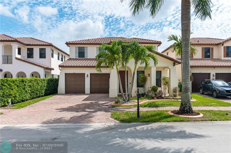 Beautiful and spacious 4/3 Montecito Model in Cooper City's best community, Monterra. Highly sought-after Montecito model offers open, spacious floor plan & 10 ft ceilings. 1st flr has 1 bed/1 full bath, large living room & family room, kitchen w/SS appliances & over-size 2 car garage. 2nd floor has 3 beds/2 baths, laundry room & impact windows. Covered patio, fenced yard & room for a pool. Zoned for best public schools in area, Embassy Creek, Pioneer & Cooper City HS.  Private community featuring 24 HR manned security. Fitness center, tennis courts, basketball courts, several playgrounds, walking paths, dog parks & large community pool w/separate splash pad area for kids.   Centrally located to all major highways with restaurants, supermarkets & chain stores in walking distance.