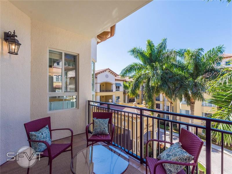 """ABSOULUTELY STUNNING!! DESIRABLE CORNER UNIT WITH LOTS OF NATURAL LIGHT. PRIVATE & PEACEFUL 2 BEDROOM/2.5 BATH + DEN WITH OPEN BALCONIES & PATIOS. SPLIT FLOOR PLAN, NEUTRAL TILE, GORGEOUS EAT-IN KITCHEN, GRANITE COUNTER TOPS, 42"""" WOOD CABINETS, STAINLESS APPLIANCES, SNACK COUNTER, BREAKFAST AREA & A SEPARATE DINING ROOM. LARGE LIVING AREA, HIGH IMPACT HURRICANE WINDOWS AND DOORS. CUSTOM WALK-IN CLOSET IN MAIN BDRM, BATH FEATURES SEPARATE SPA TUB/SHOWER & DOUBLE SINKS. EXTERIOR BUILDING JUST REPAINTED. A  LARGE STORAGE UNIT IS INCLUDED WITH THE UNIT. AMENITIES 40-METER SWIM/LAP POOL & 2 SPAS, GYM, RESTAURANT/LOBBY BAR LIBRARY, GAME ROOMS, ACTIVITIES DIRECTOR & CONCIERGE.EXERCISE CLASSES/CLUBS/WALKINGPATHS/BACKUP GENERATOR/VALET PARKING. (PLEASE SEE BROKER REMARKS FOR CONTINUED AMMENITIES)"""