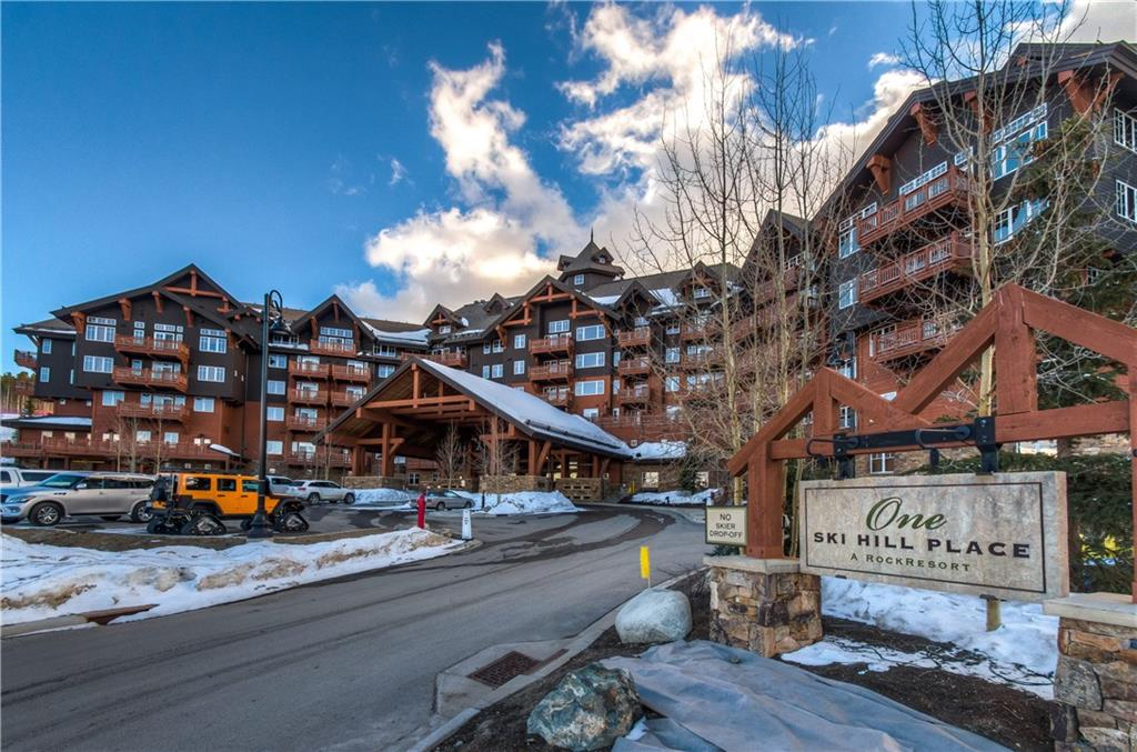 This luxury 3 bedroom residence is located in Breck's premier ski-in/ski-out property, One Ski Hill Place. The unit extends out from the rest of the building with 180° views of spectacular Peak 8 ski slopes. Property features 2 private decks, high-end finishes, & mountain modern décor. Master features an en-suite bathroom with a luxurious walk-in steam shower. Amenities include: aquatics center, game room, on-site spa, bowling alley, private theaters, lounge area, & on-call shuttle. A must see!