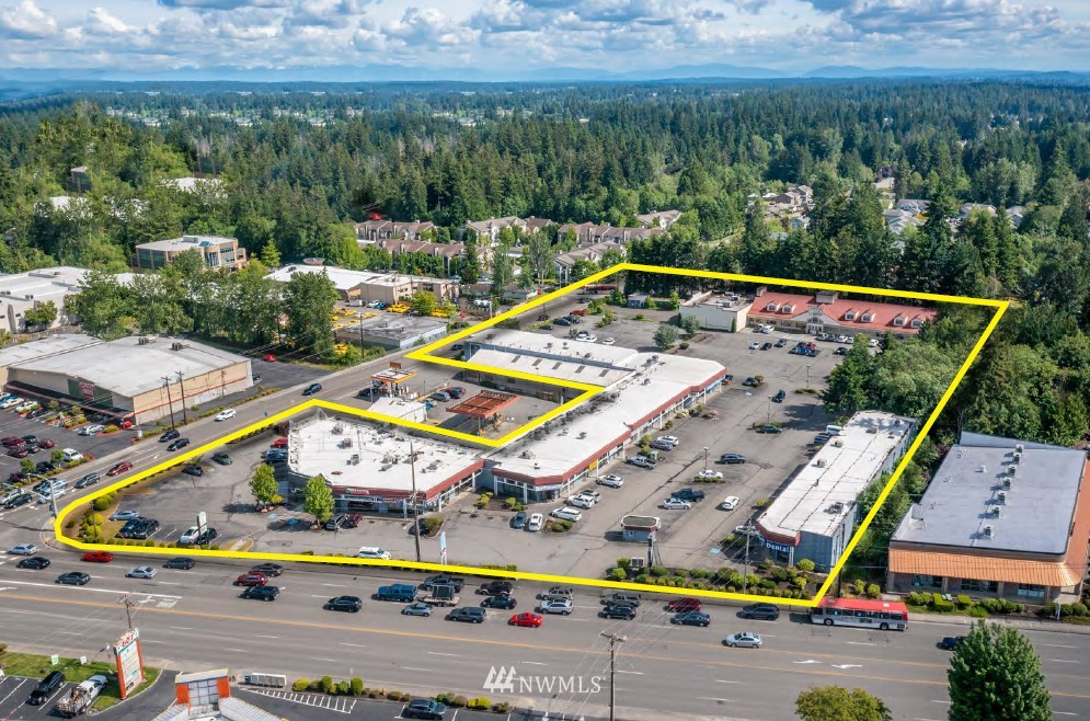 Attractive retail center located on the corner of Everett Mall Way and 7th Avenue SE which provide 40,550+ and 9,500+ VPD traffic counts respectively. The 3 retail buildings provide 52,057 NRSF with plentiful parking. The 232,610 SF site is zoned B (Business) a dense zoning allowing for up to 7 – 9 floors and includes mixed use (multifamily). The property was built in phases between 1985 and 1987 and is fully occupied. There is substantial rental upside on lease renewal by bringing rents to market and also charging triple nets. This center historically is quite stable with the most recent tenant moving in 5 years ago and the average tenant moving in 10 years ago. 7th Avenue Plaza provides lots of upside and very little downside.