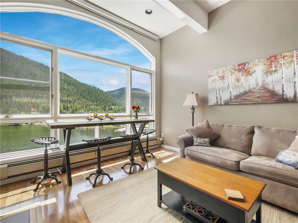 Living area with lake & mountain views!